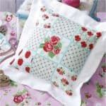 Cross-stitch pattern for cushion Scarlet Blooms