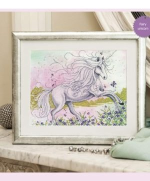 "Free cross-stitch design ""Fairy unicorn"""