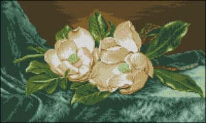"Needlepoint pattern ""Camellias"""