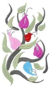 "Free embroidery design ""Flowering peas"""