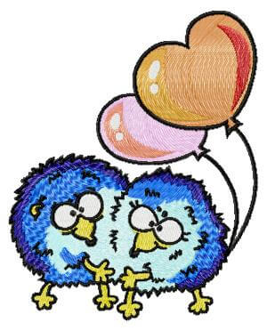 Hedgehogs with balloons-free embroidery design