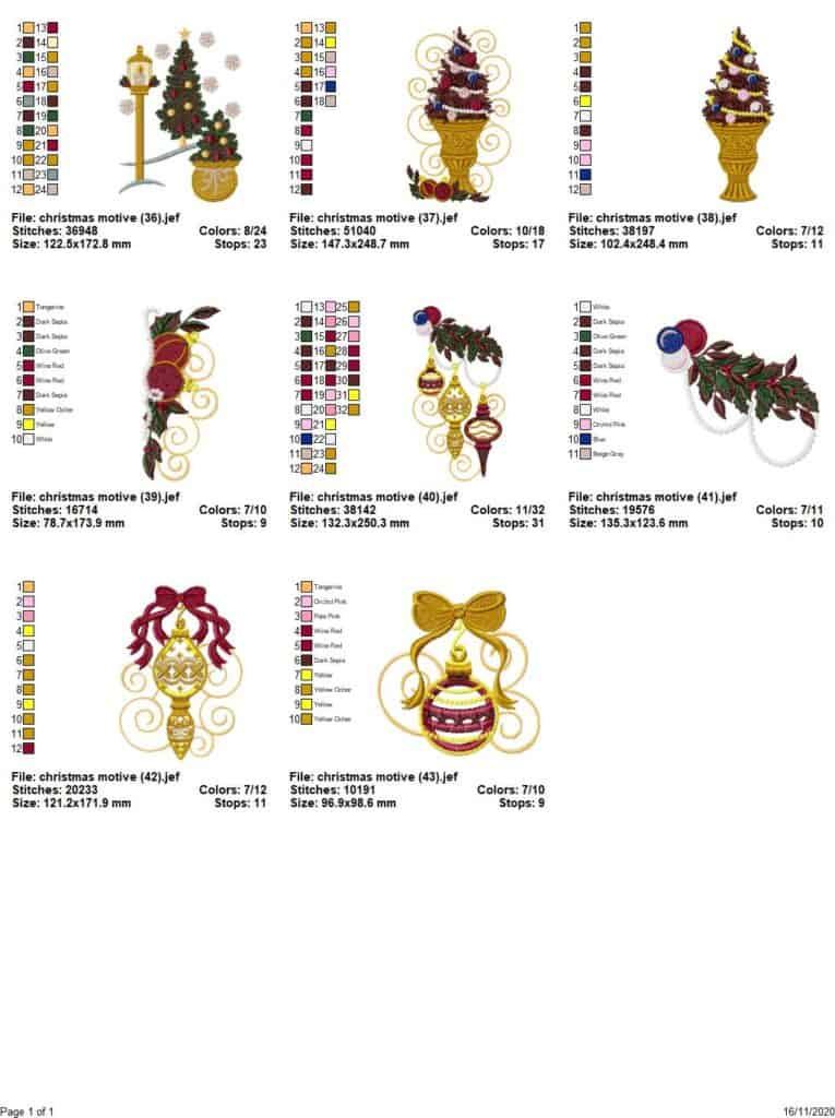 Christmas motives-2-embroidery designs
