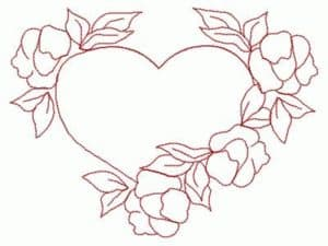 machine embroidery design redwork