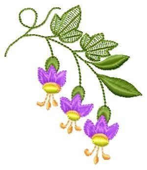 "Free embroidery design ""Campanula"""