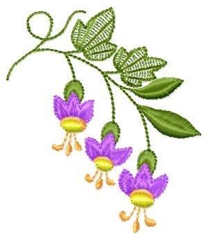 "Free embroidery design ""Campanula"""