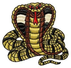 Free embroidery design Snake (Cobra)