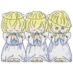 Three angels -embroidery design
