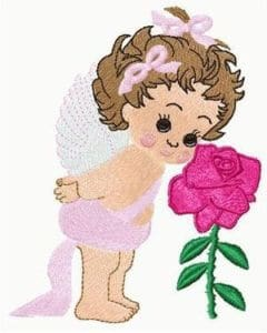 free embroidery design angel