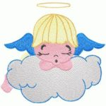 free embroidery design little angel