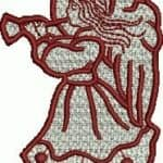 free embroidery design -angel