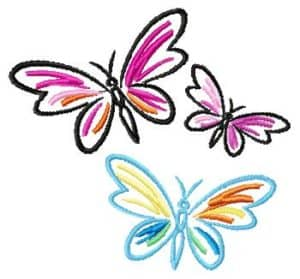 free embroidery designs-butterflies