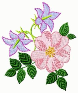 fre embroidery design flowers