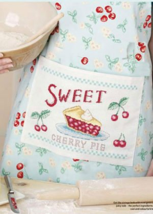 "Cross-stitch design for apron""Cook's pinny"""