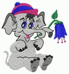 free embroidery design Baby elephant