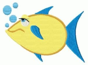free embroidery design yellow fish