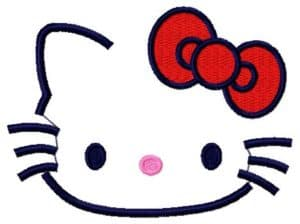 Hello Kitty-free embroidery design