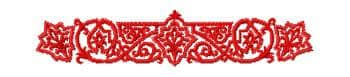 free embroidery design red ornament