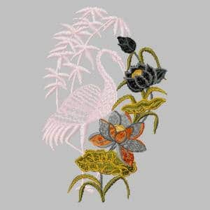 pink-heron-lotus-flower-embroidery-design