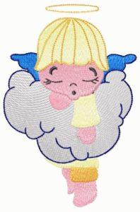 free embroidery design sleeping angel