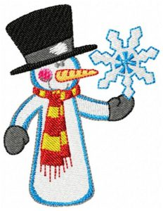 Funny snowmen-embroidery designs free