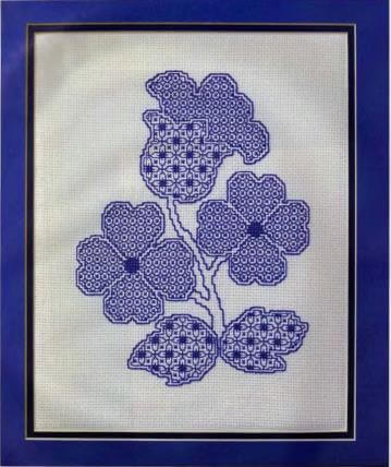 blackwork embroidery design